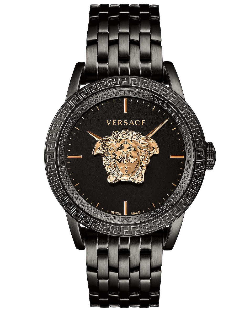 Image 1 of VERSACE Palazzo Empire 43mm in IP Black & Black Dial