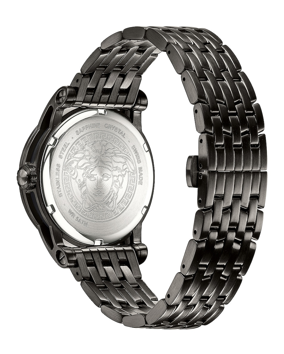 Image 2 of VERSACE Palazzo Empire 43mm in IP Black & Black Dial