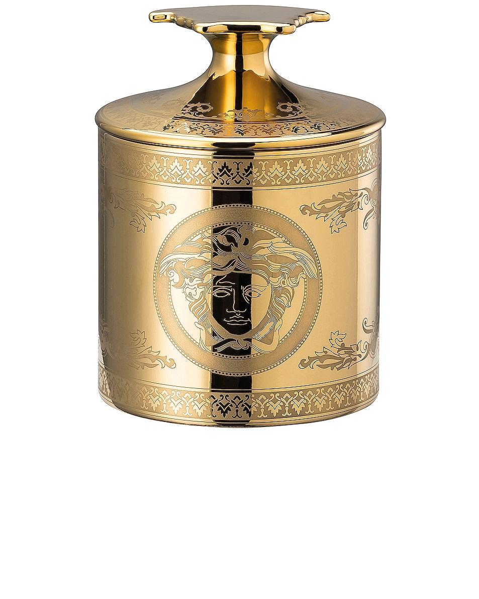 Image 1 of VERSACE Golden Medusa Votive with Lid & Fragrance in Gold