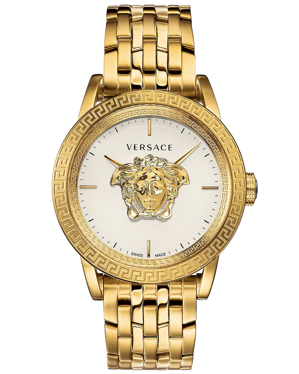 Image 1 of VERSACE Palazzo Empire 43mm in IP Yellow Gold & White Dial
