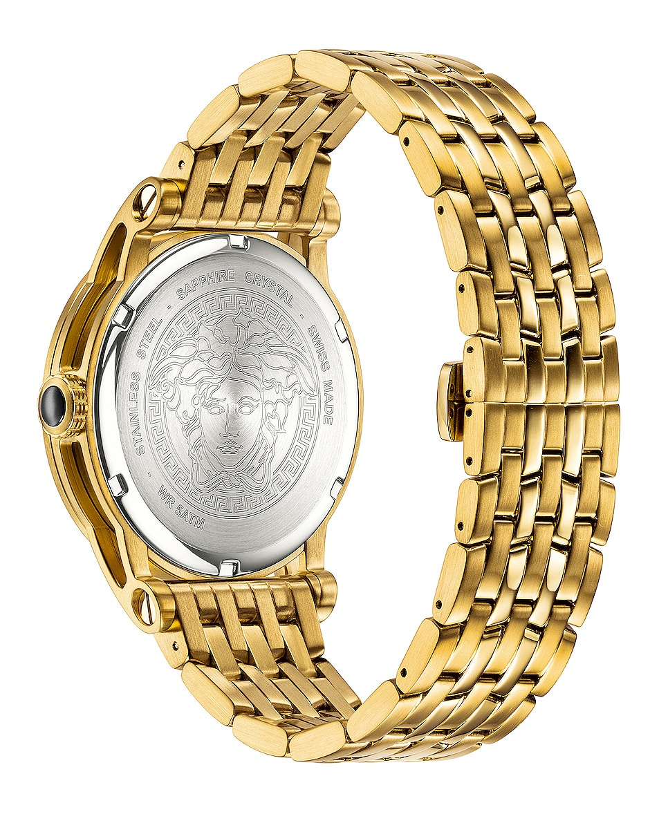 Image 2 of VERSACE Palazzo Empire 43mm in IP Yellow Gold & White Dial
