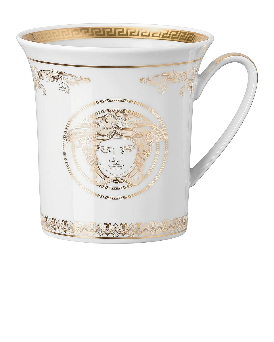 Image 1 of VERSACE Medusa Gala Gold Mug in White