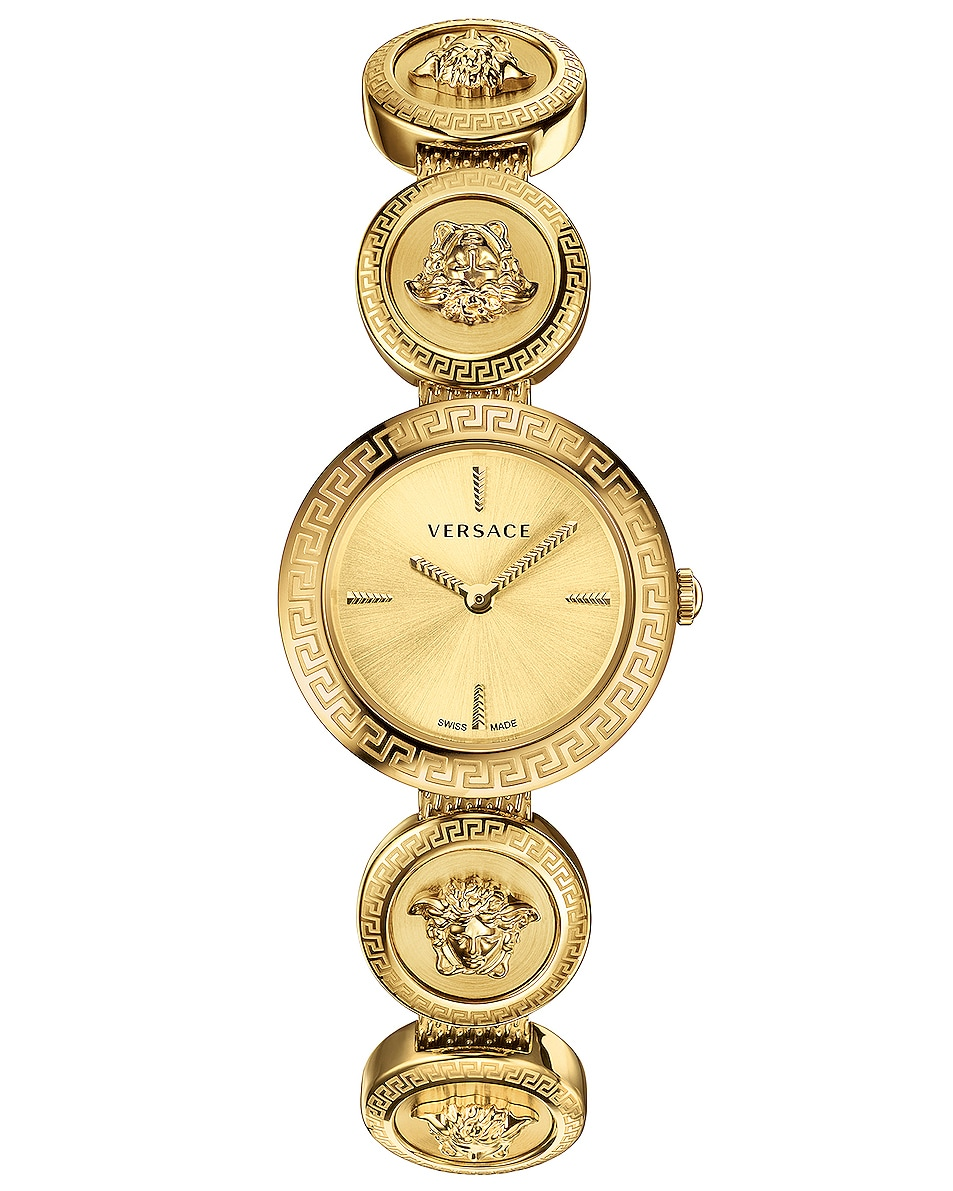 Image 1 of VERSACE Medusa Stud 28mm Watch in IP Yellow Gold & Gold Dial