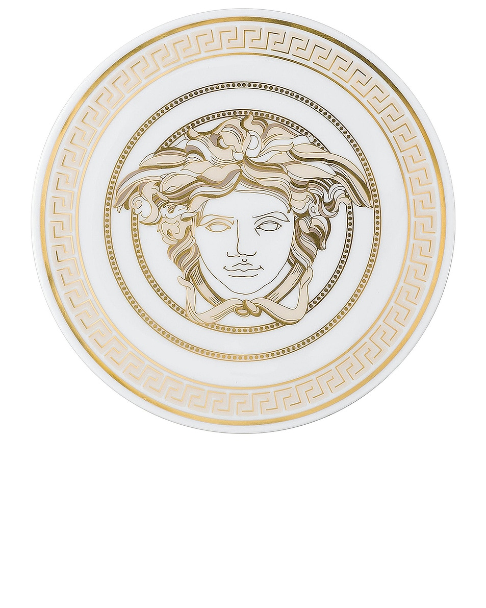 Image 1 of VERSACE Medusa Gala Set of Two Porcelain Coasters in White