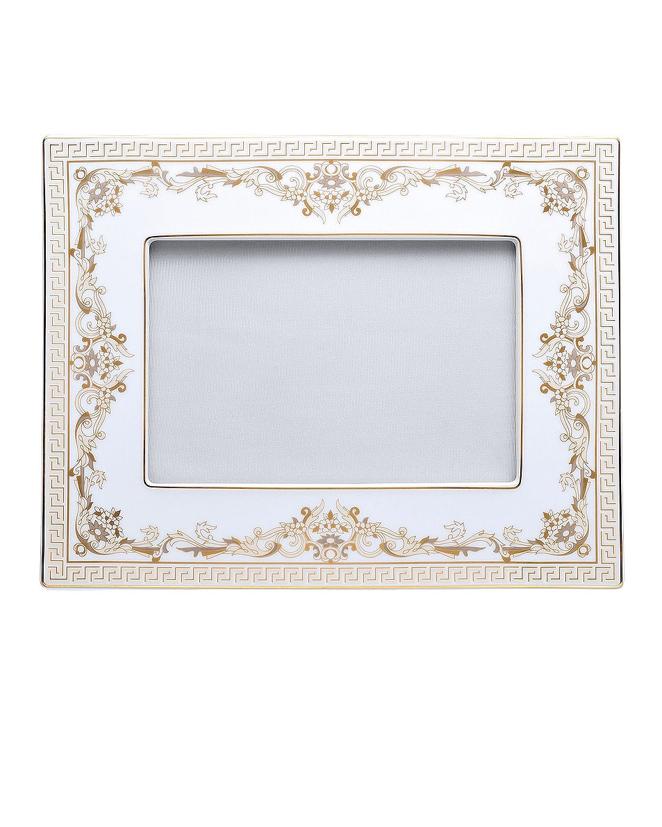 Image 1 of VERSACE Medusa Gala Picture Frame in White