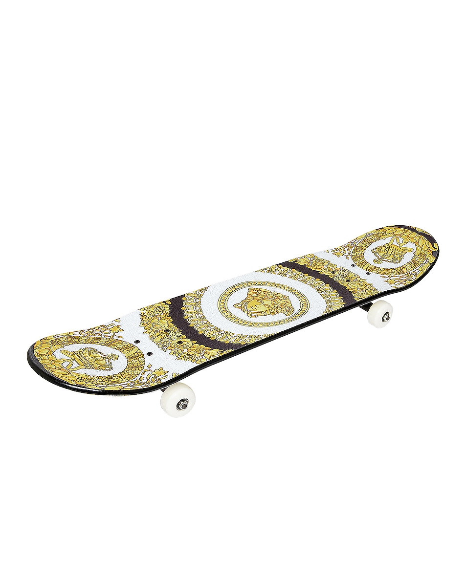Image 1 of VERSACE Play On Skateboard in Black & Gold