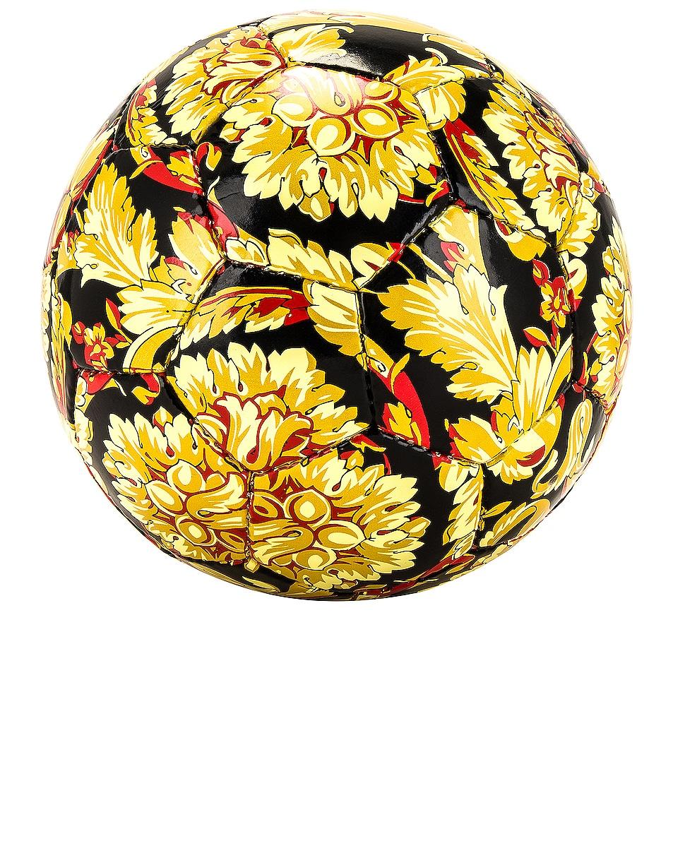 Image 1 of VERSACE Barocco Soccer Ball in Nero & Oro