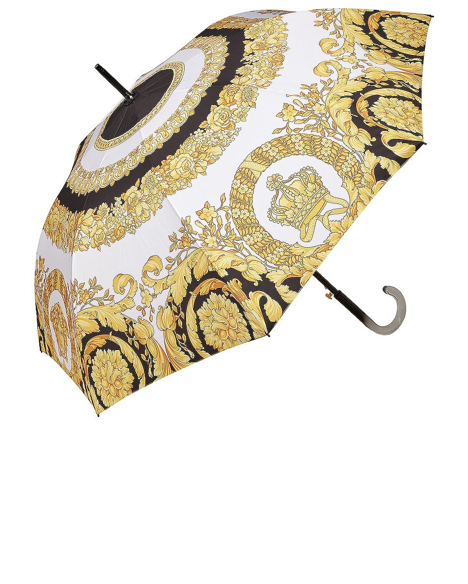 Image 1 of VERSACE Crete Des Fleur Umbrella in Black, White & Gold