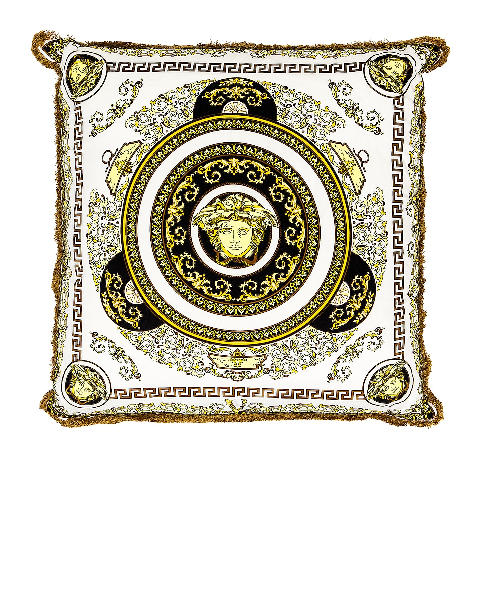 Image 1 of VERSACE Medusa Pillow in Bianco & Oro