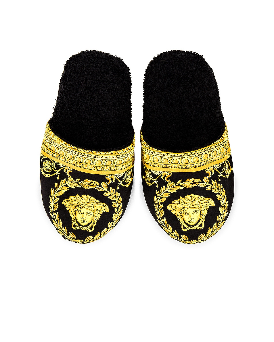 Image 1 of VERSACE Barocco Slippers in Black