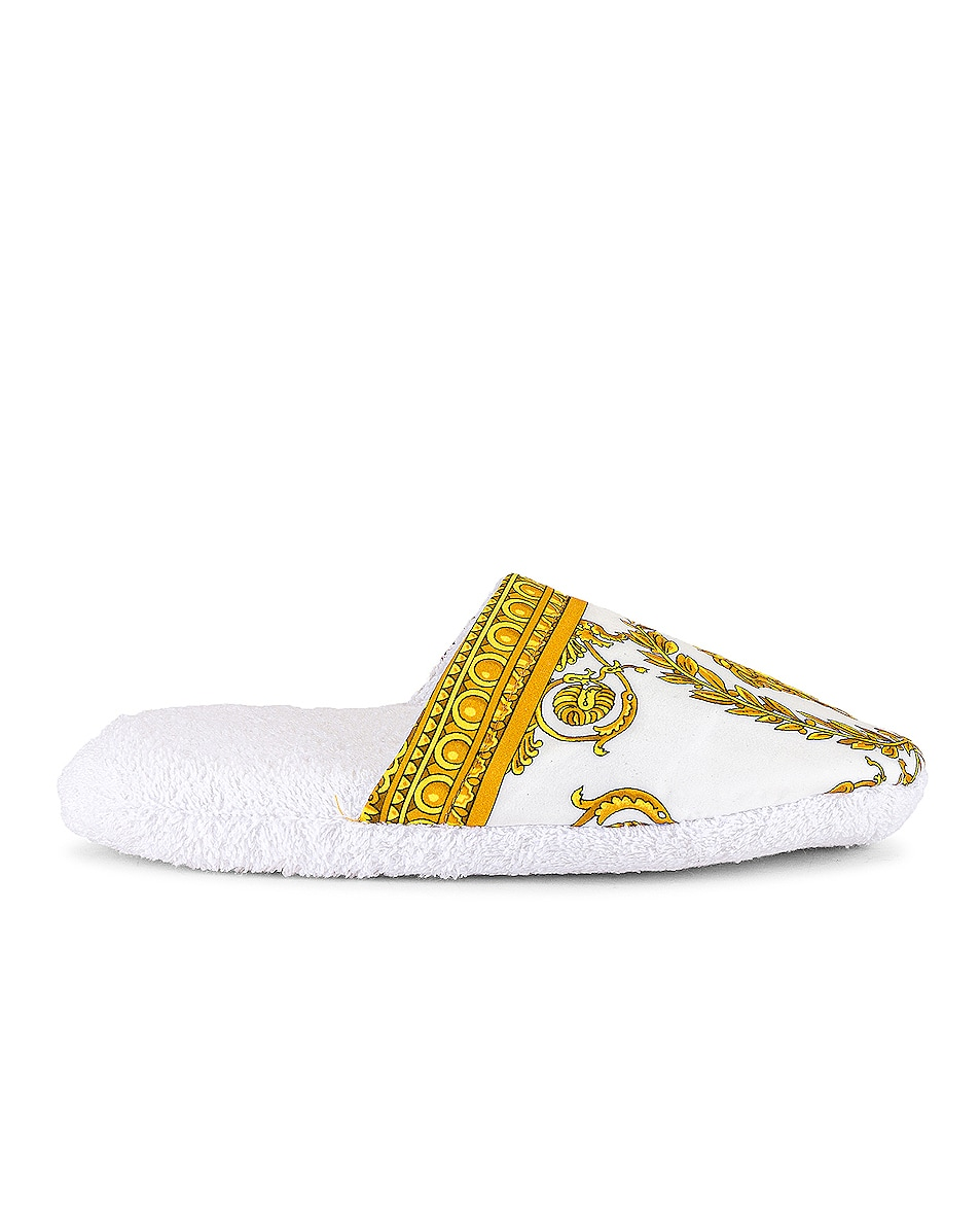 Image 1 of VERSACE Barocco Slippers in Bianco