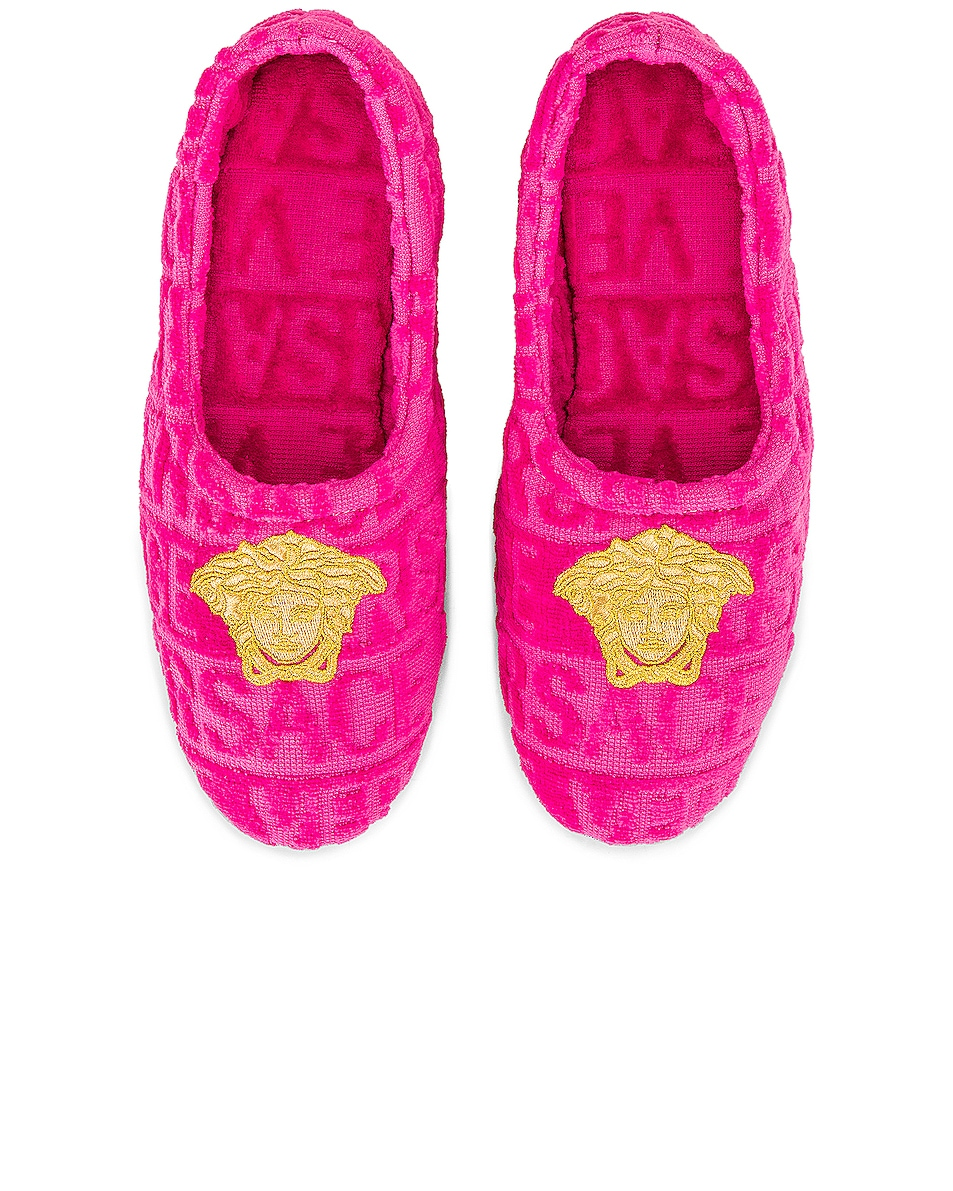 Image 1 of VERSACE Medusa Slippers in Pink