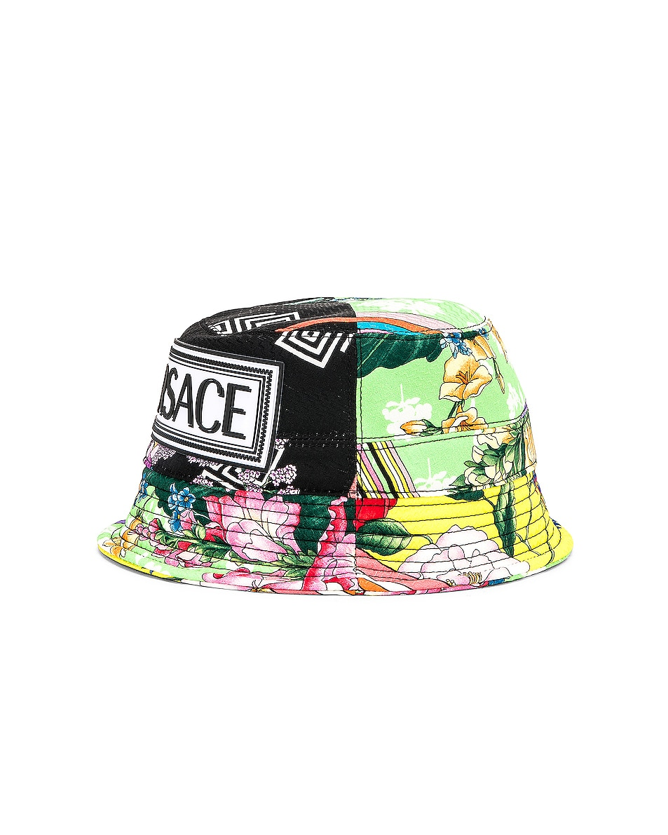 Image 4 of VERSACE Logo Print Bucket Hat in Multi