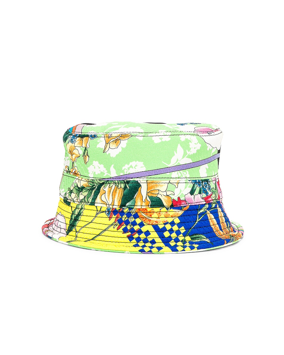 Image 5 of VERSACE Logo Print Bucket Hat in Multi