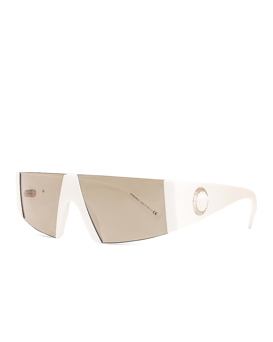 Image 2 of VERSACE Rectangle Shield Sunglasses in White