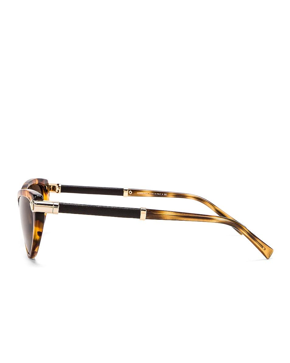 Image 3 of VERSACE Skinny Sunglasses in Light Havana