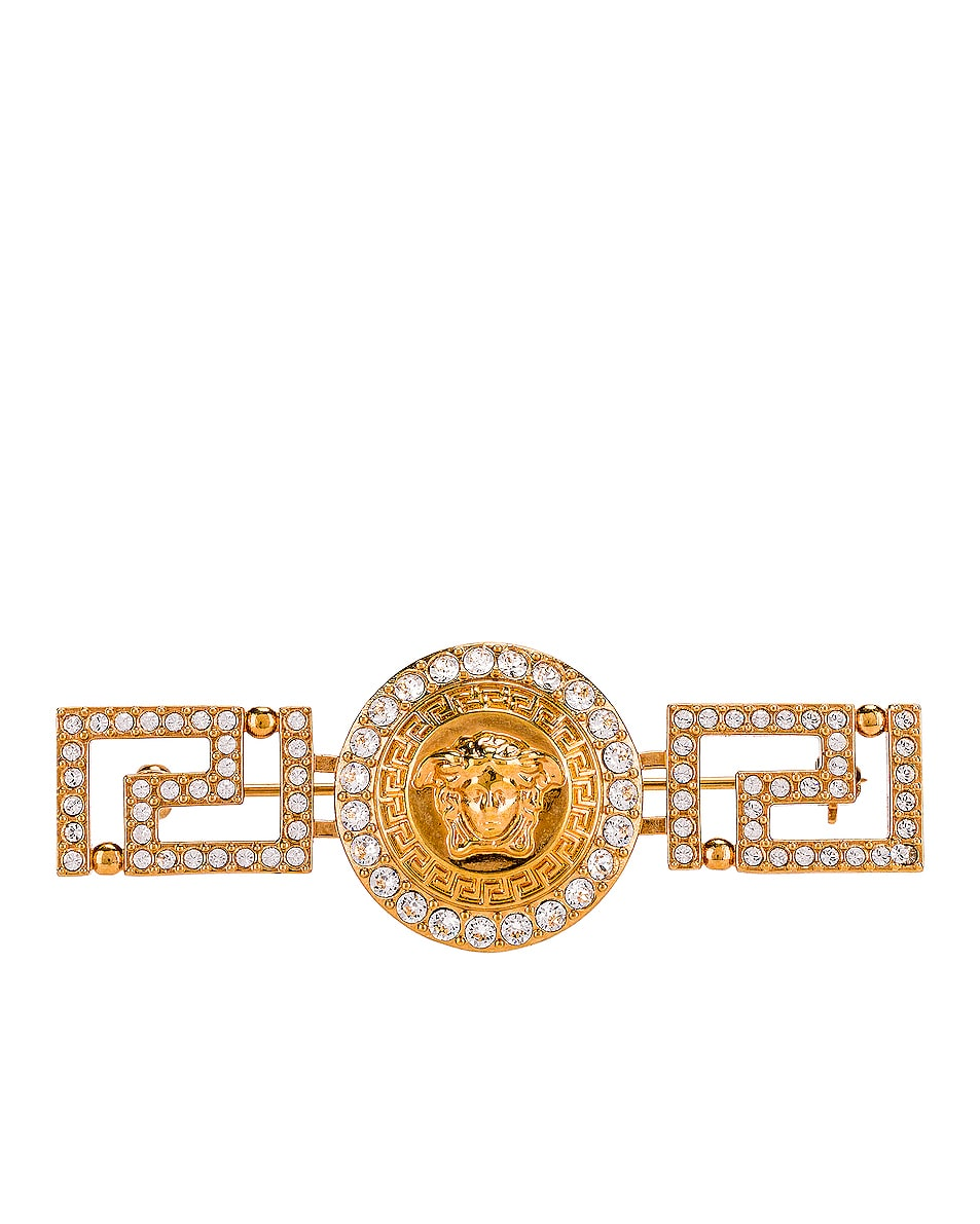 Image 1 of VERSACE Tribute Brooch in Gold