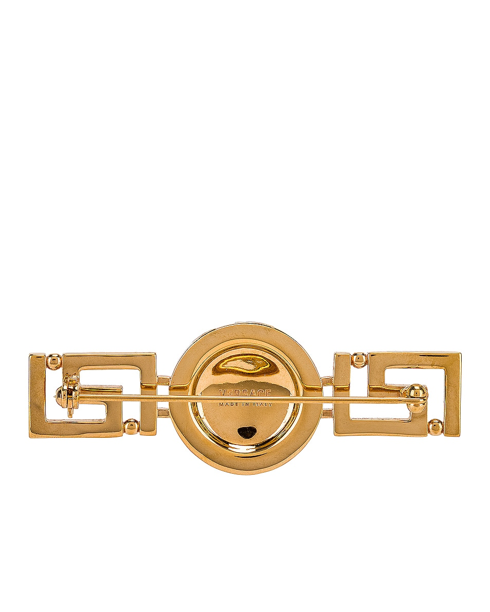 Image 3 of VERSACE Tribute Brooch in Gold