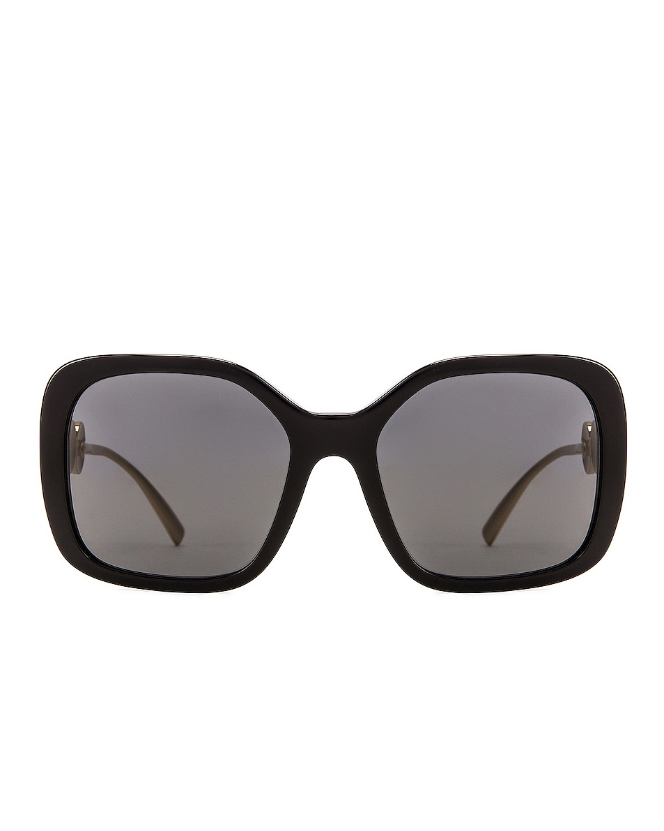 Image 1 of VERSACE Medusa Square Sunglasses in Black & Grey