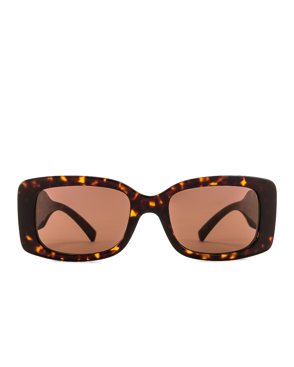 Image 1 of VERSACE Vintage Logo Rectangle Sunglasses in Havana