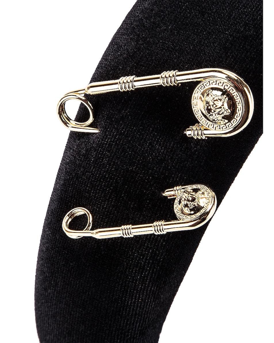 Image 3 of VERSACE Pin Headband in Black