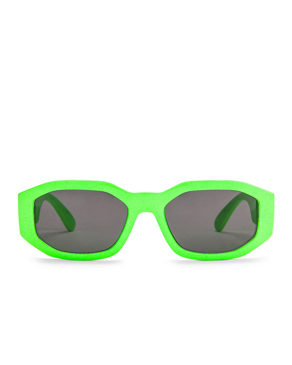 Image 1 of VERSACE Medusa Biggie Sunglasses in Green Fluo