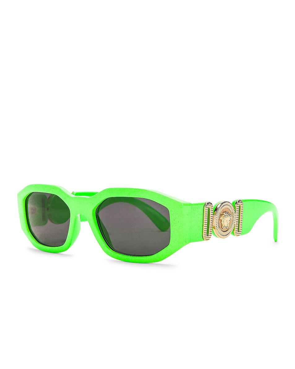 Image 2 of VERSACE Medusa Biggie Sunglasses in Green Fluo