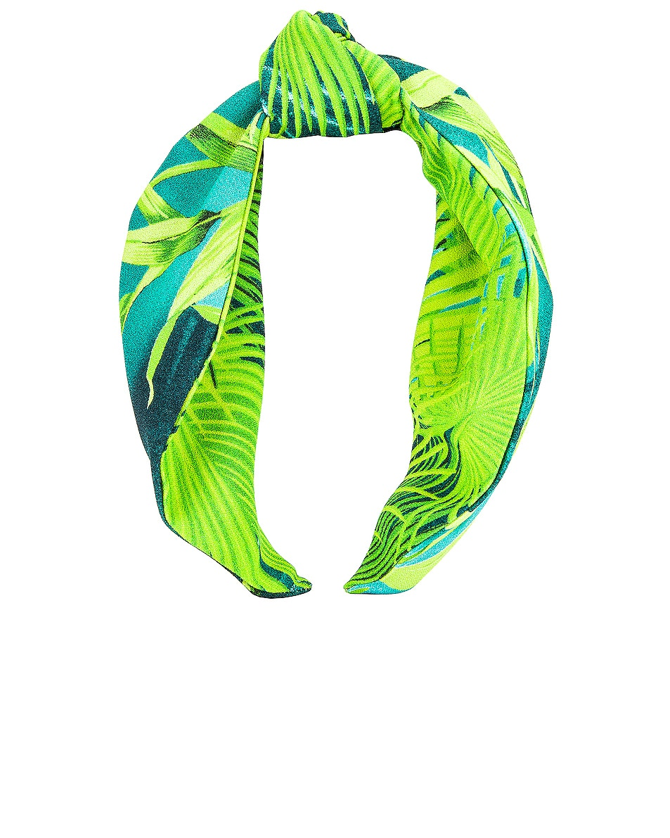 Image 1 of VERSACE Palm Headband in Green