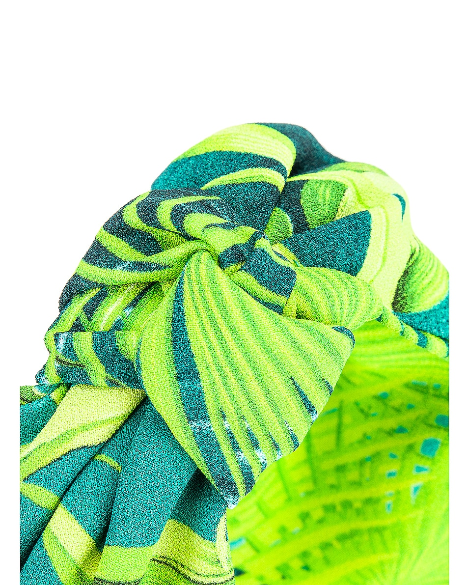 Image 3 of VERSACE Palm Headband in Green
