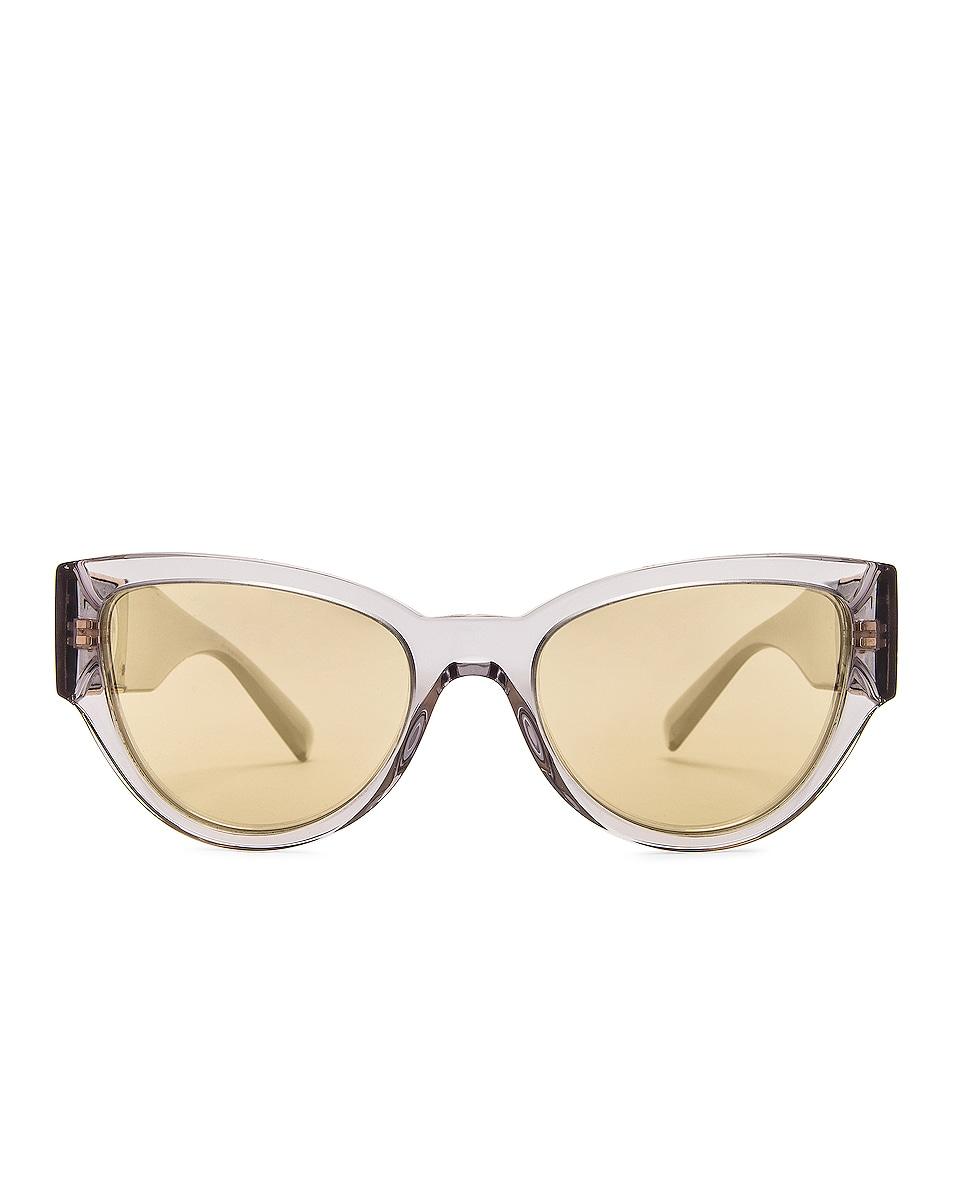 Image 1 of VERSACE Medusa Stud Cat Eye Sunglasses in Transparent Grey