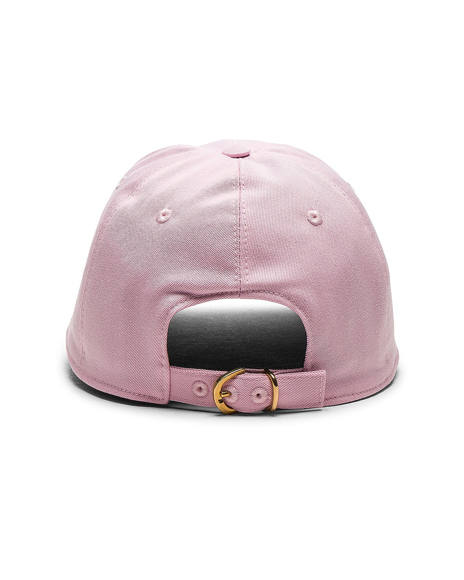 Image 4 of VERSACE Logo Baseball Cap in Pink & White