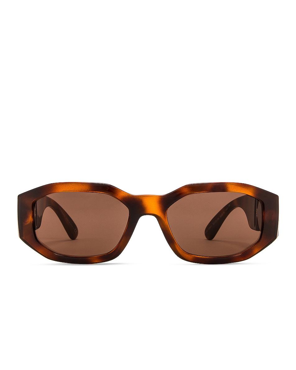 Image 1 of VERSACE Medusa Biggie Sunglasses in Havana
