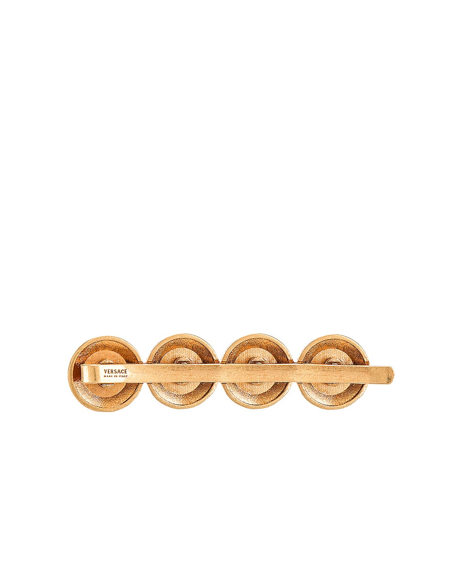 Image 3 of VERSACE Logo Hair Clip in Gold