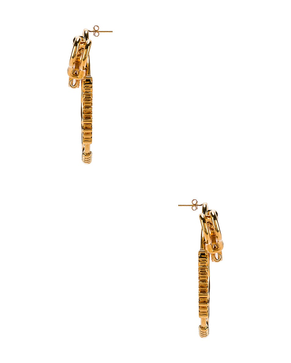 Image 3 of VERSACE Pin Earrings in Crystal & Gold