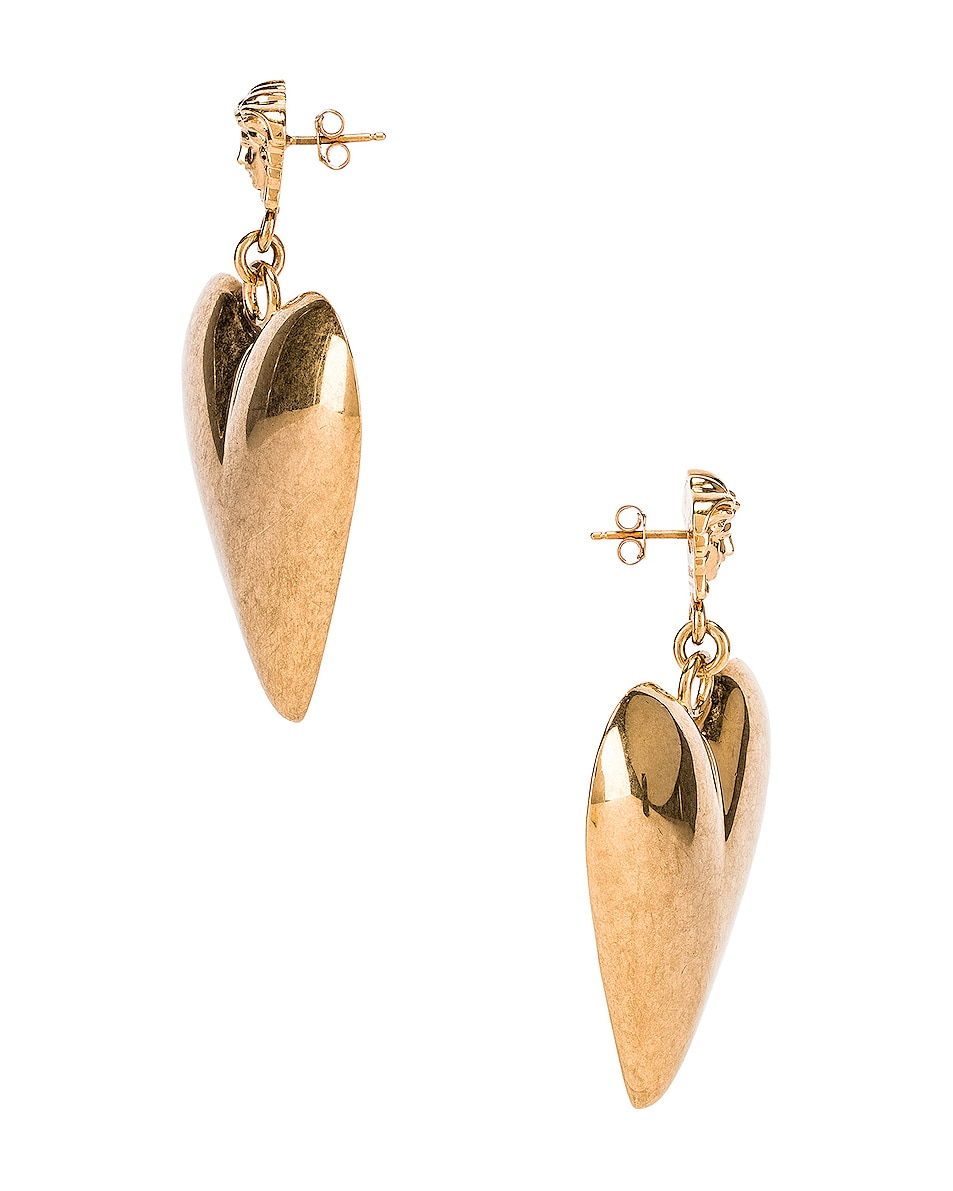 Image 3 of VERSACE Heart Earrings in Gold
