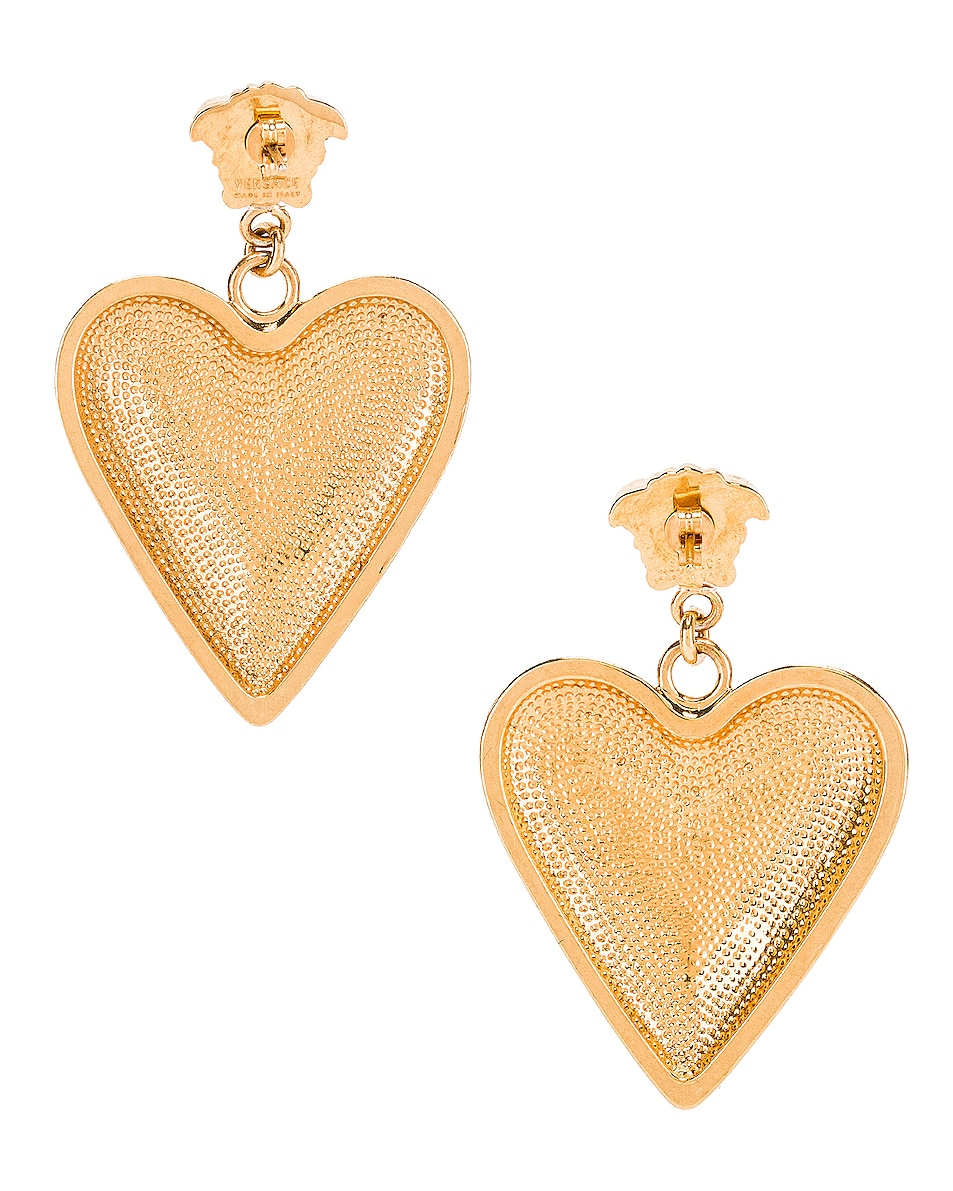 Image 4 of VERSACE Heart Earrings in Gold