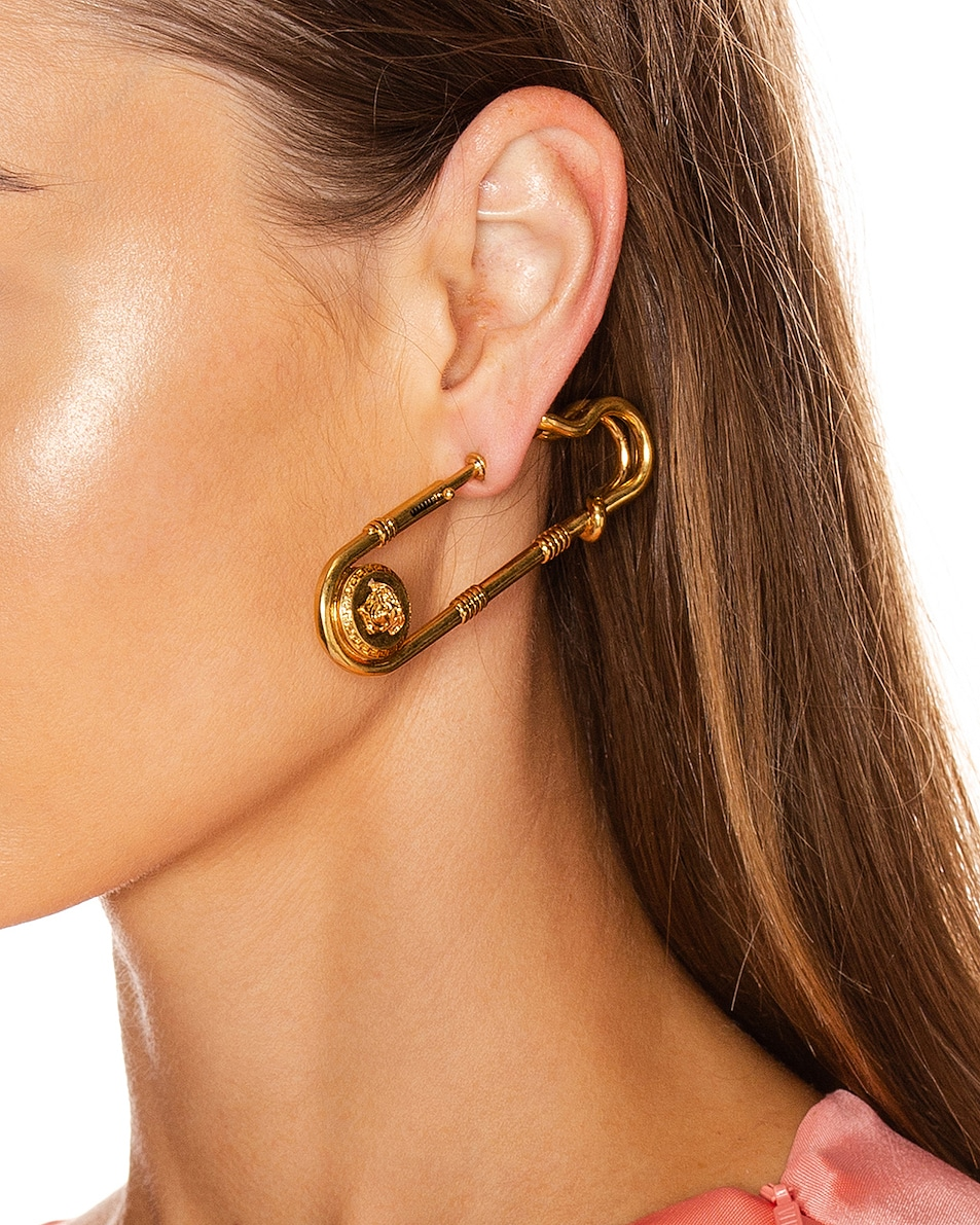 Image 2 of VERSACE Pin Earrings in Gold