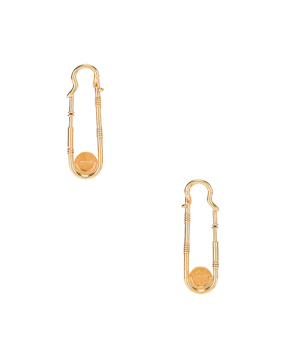 Image 4 of VERSACE Pin Earrings in Gold