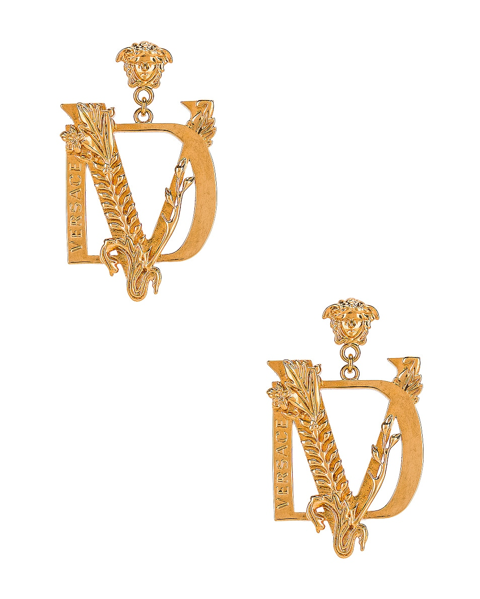 Image 1 of VERSACE Tribute Earrings in Gold