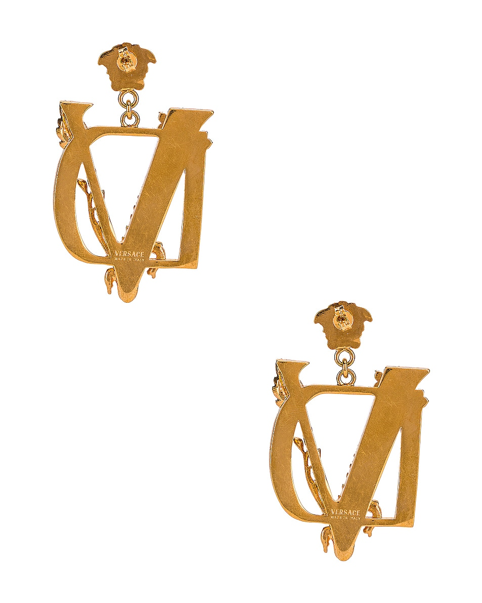 Image 4 of VERSACE Tribute Earrings in Gold