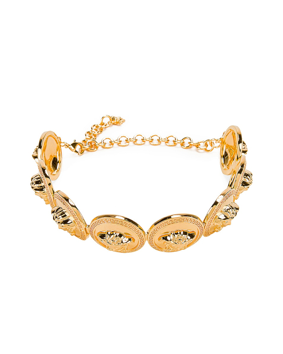Image 1 of VERSACE Chunky Choker Necklace in Gold