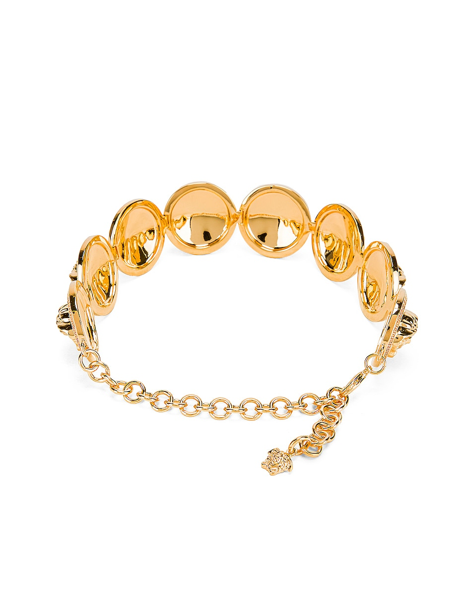 Image 4 of VERSACE Chunky Choker Necklace in Gold