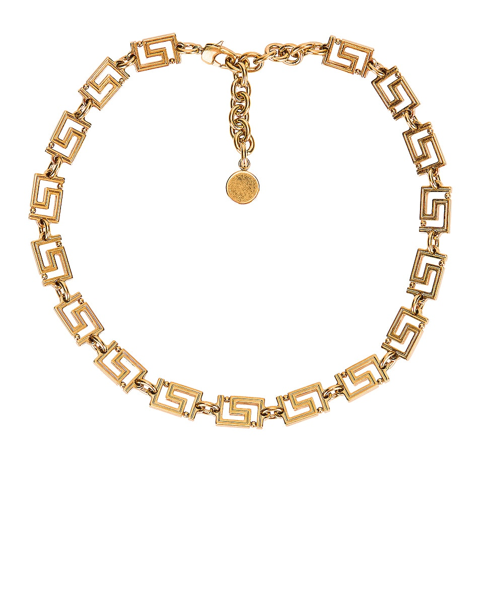 Image 1 of VERSACE Logo Necklace in Gold