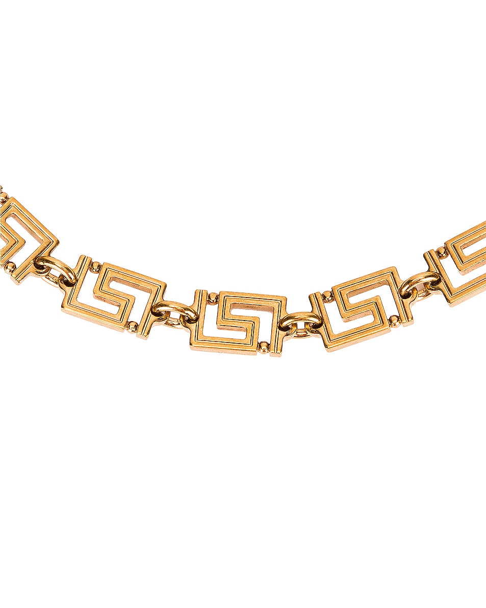 Image 3 of VERSACE Logo Necklace in Gold