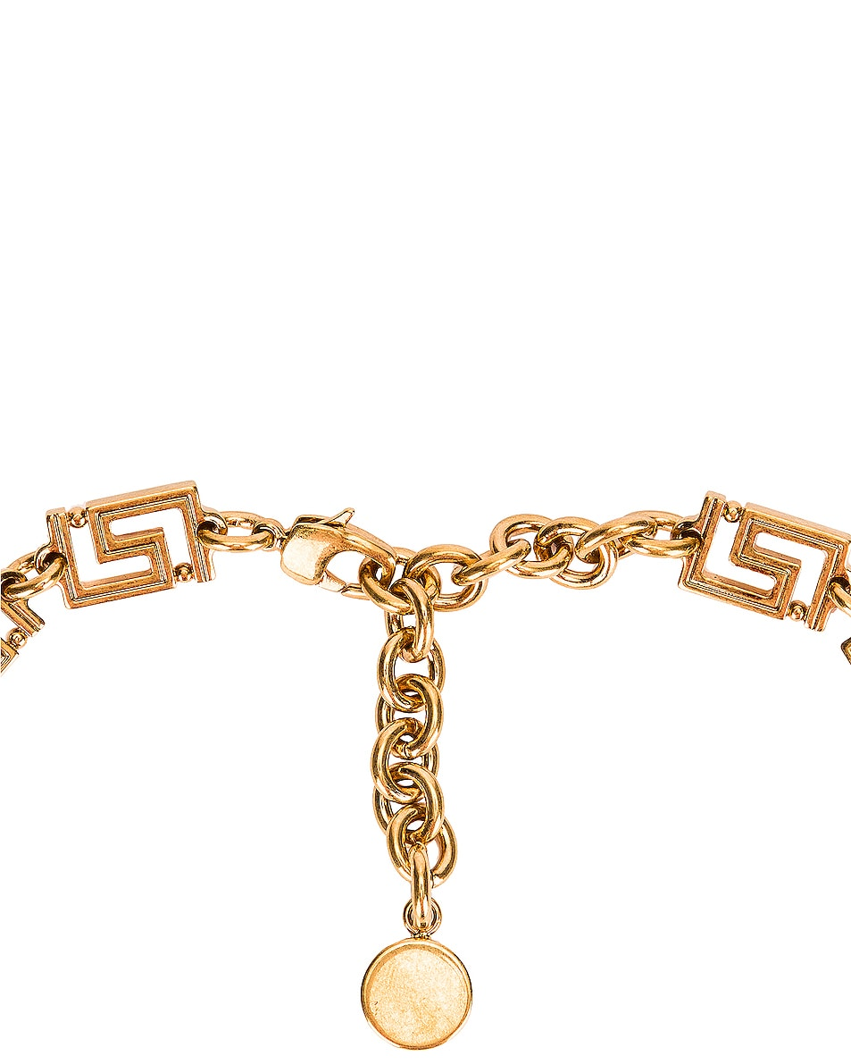 Image 4 of VERSACE Logo Necklace in Gold