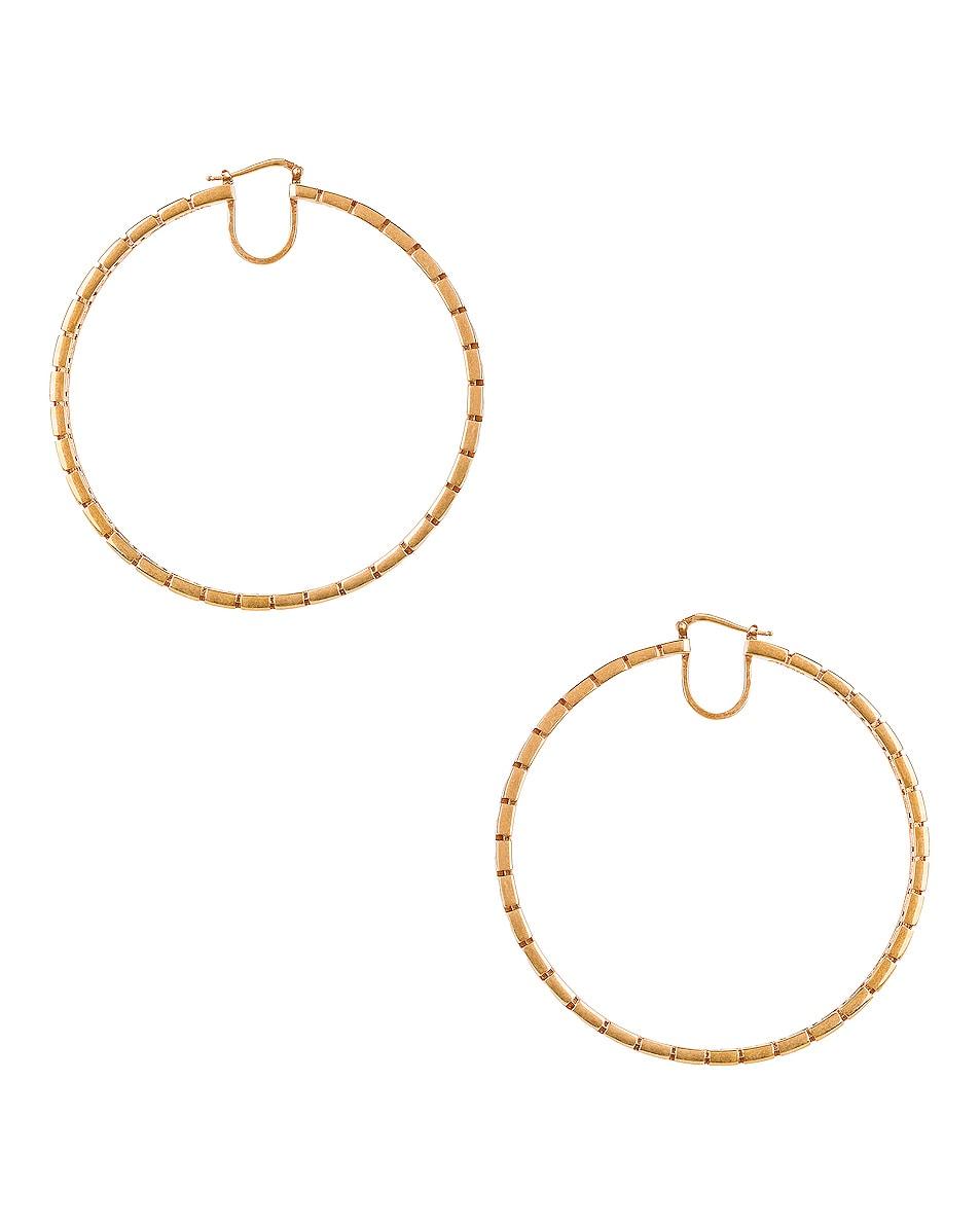 Image 1 of VERSACE Hoop Earrings in Gold