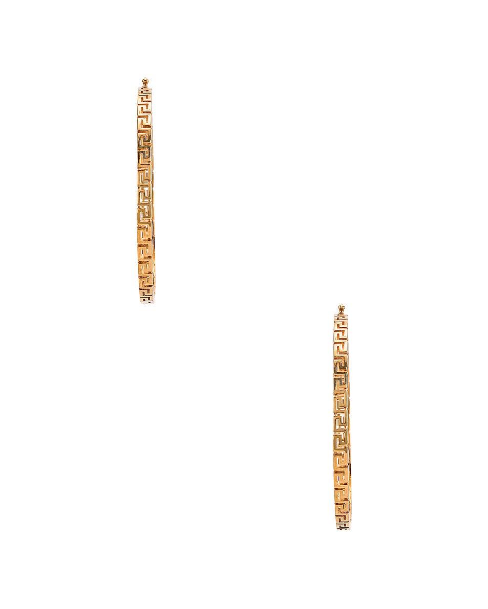 Image 3 of VERSACE Hoop Earrings in Gold