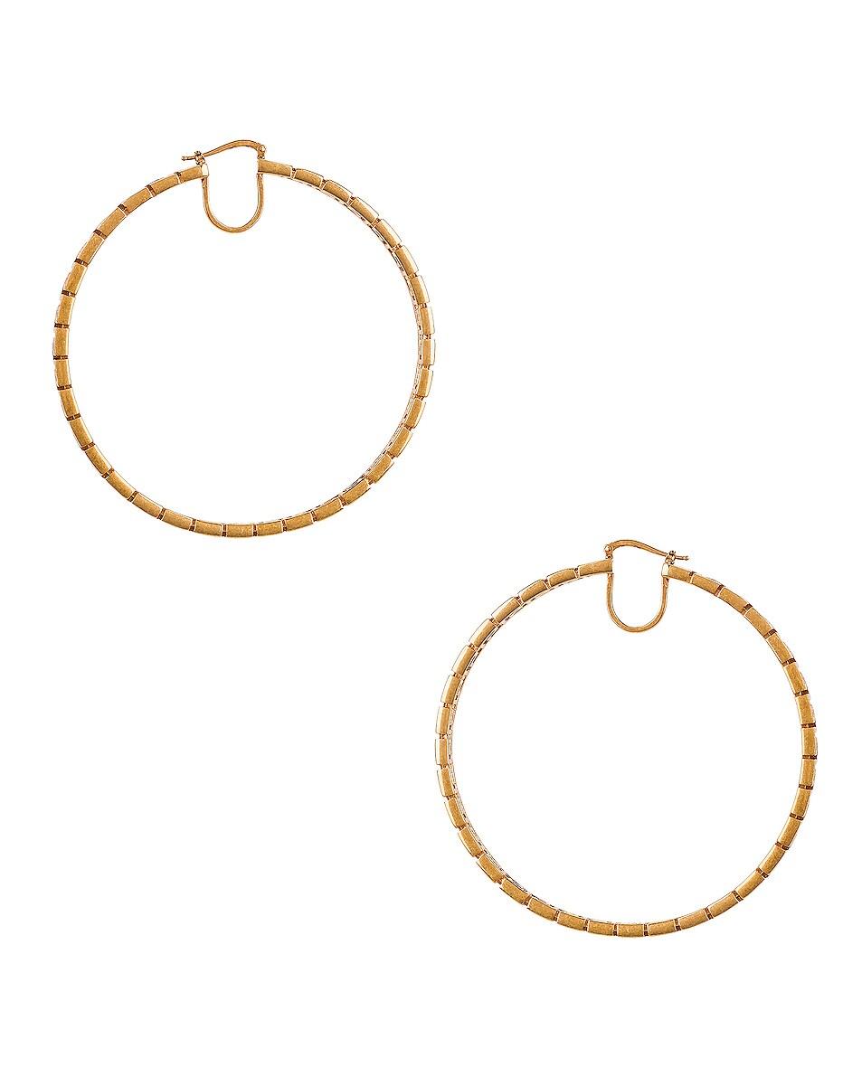 Image 4 of VERSACE Hoop Earrings in Gold