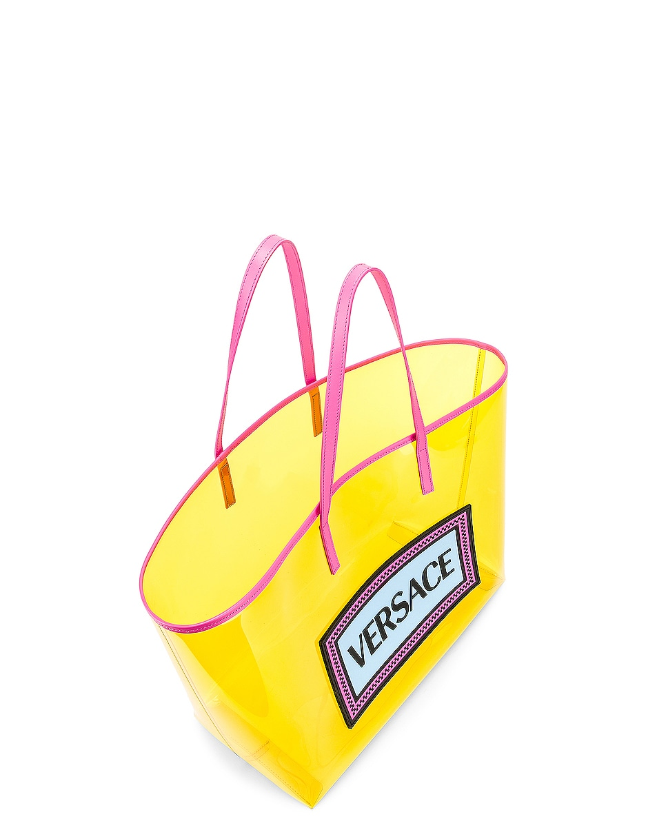Image 5 of VERSACE Clear Vinyl Logo Tote in Yellow