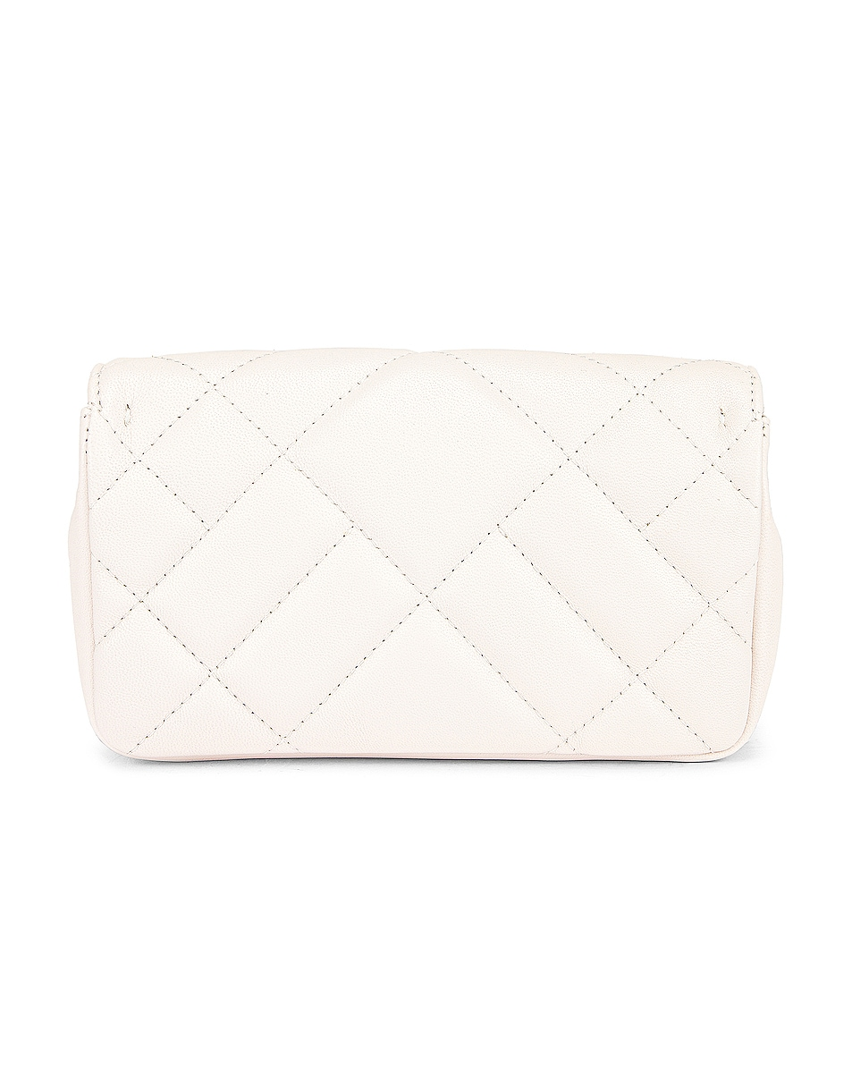 Image 3 of VERSACE Leather Tribute Mini Shoulder Bag in Off White & Gold